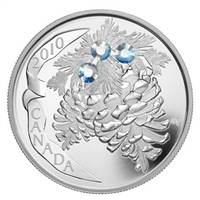 2010 Canada $20 Moonlight Crystal Pinecone Fine Silver (Tax Exempt)