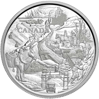 2010 Canada $250 125th Anniversary of Banff Kilo Silver (No Tax) lightly toned