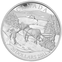 2011 Canada $20 Winter Scene Sterling Silver Coin
