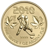 2010 Canada $5 Olympic Hockey Gold Plated Silver (TAX Exempt)