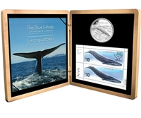 RDC 2010 Canada $10 Blue Whale Sterling Silver Coin and Stamp Set (Scuffed Sleeve)