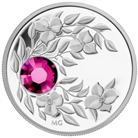 2012 Canada $3 Birthstone Collection - January Fine Silver (No Tax) -