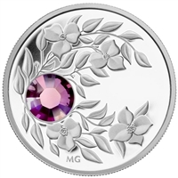2012 Canada $3 Birthstone Collection - February Fine Silver (No Tax)