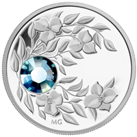2012 Canada $3 Birthstone Collection - March Fine Silver