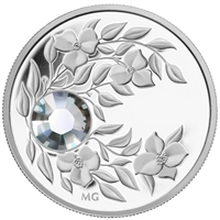 2012 Canada $3 Birthstone Collection - April Fine Silver (No Tax)