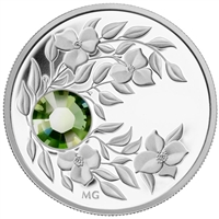 2012 Canada $3 Birthstone Collection - August Fine Silver