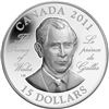 2011 Canada $15 Prince of Wales Ultra High Relief Sterling Silver