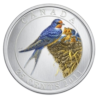 2011 25-cent Birds of Canada - Barn Swallow (#7)