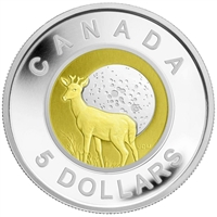 2011 Canada $5 Full Moons of the Algonquin - Full Buck Moon Sterling Silver & Niobium