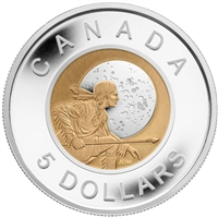 2011 Canada $5 Full Moons of the Algonquin - Full Hunter's Moon Sterling Silver & Niobium