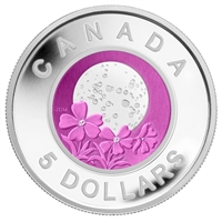 2012 Canada $5 Full Moons of the Algonquin - April Full Pink Moon Sterling & Niobium