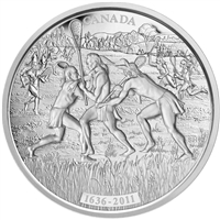 2011 Canada $250 375th Anniversary of Lacrosse Fine Silver Kilo (NO Tax)