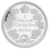 2011 Canada Sp. Ed. 1911 Silver Dollar Centennial Proof Sterling Silver Dollar