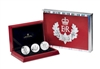 2012 Canada $20 Queen's Diamond Jubilee Silver 3-Coin Set (one scratched capsule)