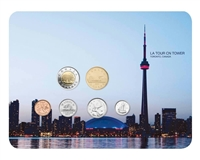2011 Canada CN Tower 6-coin Collector Card