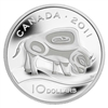 2011 Canada $10 Wood Bison Fine Silver Coin (TAX Exempt)