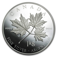 2011 Canada $250 Maple Leaf Forever Fine Silver Kilo (No Tax) SCUFF