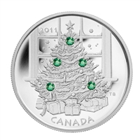 2011 Canada $20 Christmas Tree Fine Silver Coin