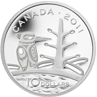 2011 Canada $10 Boreal Forest Fine Silver Coin (TAX Exempt).