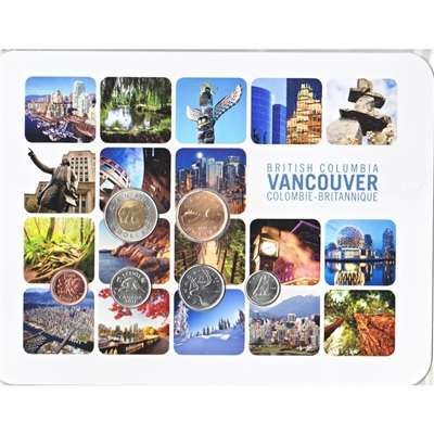 2011 Canada Vancouver Square 6-coin Collector Card