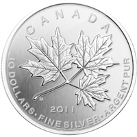2011 Canada $10 Maple Leaf Forever Fine Silver (No Tax)