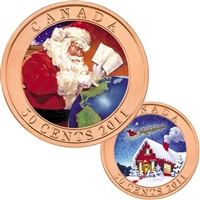 2011 Canada 50-cent Gifts From Santa Lenticular Coin