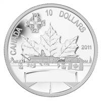 2011 Canada $10 Highway of Heroes Fine Silver Coin (TAX Exempt)