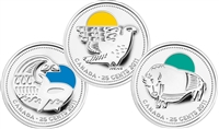 2011 Canada 25-cent Parks Canada - Our Legendary Nature 3-coin Sterling Silver Set