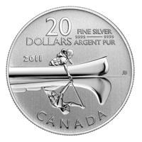 2011 Canada $20 Canoe ($20 for $20 #2) Fine Silver Coin (TAX Exempt)
