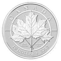 2012 Canada $10 Maple Leaf Forever Fine Silver Coin (TAX Exempt)