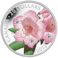 2012 Canada $20 Swarovski Crystals - Rhododendron (#3) TAX Exempt