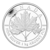 2012 Canada $250 Maple Leaf Forever Kilo Fine Silver Coin (TAX Exempt)