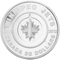 2011 Canada $20 Winnipeg Jets Fine Silver Coin (Tax Exempt)
