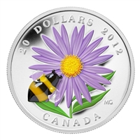 RDC 2012 Canada $20 Aster with Venetian Glass Bumble Bee (Impaired)