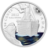 RDC 2012 Canada 50-cent R.M.S. Titanic Silver Plated Copper Coin (Toned)