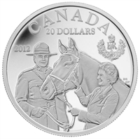2012 Canada $20 The Queen's Visit to Canada RCMP Fine Silver (No Tax)