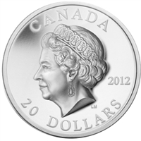 2012 Canada $20 Queen's Diamond Jubilee - Portrait in UHR (No Tax) Damaged Capsule