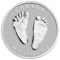 2012 Canada $10 Welcome to the World - Baby Feet Fine Silver (No Tax)