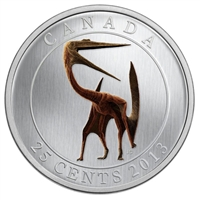 RDC 2013 Canada 25-cent Prehistoric Animals - Quetzalcoatlus (Missing Sleeve)