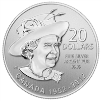 2012 Canada $20 Diamond Jubilee ($20 for $20 #4) Fine Silver (No Tax)