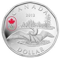 2012 Canada $1 Lucky Loonie Fine Silver Coin (TAX Exempt)