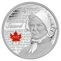 2013 Canada $4 Heroes of the War of 1812 - Laura Secord (No Tax)