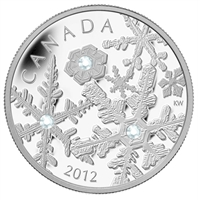 2012 Canada $20 Holiday Snowstorm Fine Silver Coin