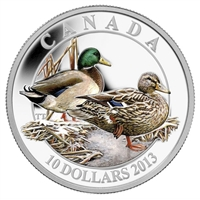 2013 Canada $10 Ducks of Canada - Mallard Fine Silver (No Tax)