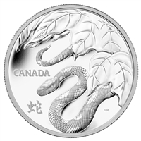 2013 Canada $250 Fine Silver - Year of the Snake Kilo (No Tax)