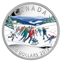 RDC 2013 Canada $10 Winter Scene Fine Silver Coin (No Tax) scratched capsule