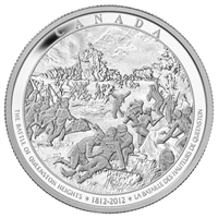 2012 Canada $250 Battle of Queenston Heights Silver Kilo (No Tax) scuffed sleeve