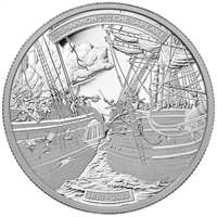 2013 Canada $50 HMS Shannon & USS Chesapeake 5oz. Silver (No Tax)