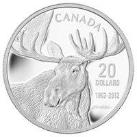2012 Canada $20 Bull Moose by Robert Bateman Fine Silver (No tax)