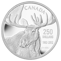 2012 Canada $250 Robert Bateman Moose Fine Silver Kilo Coin (No Tax)